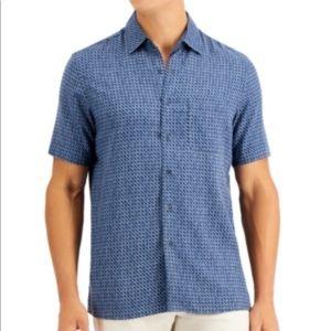 Tasso Elba Men's Patrone Geo Print Shirt